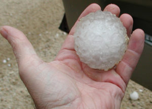 Tennis ball size hail